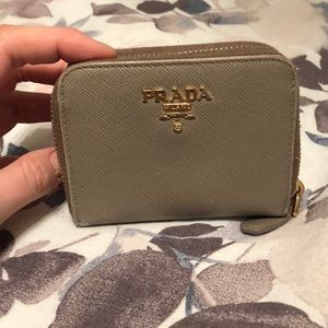 Authentic Haven't used in a year Prada coin wallet